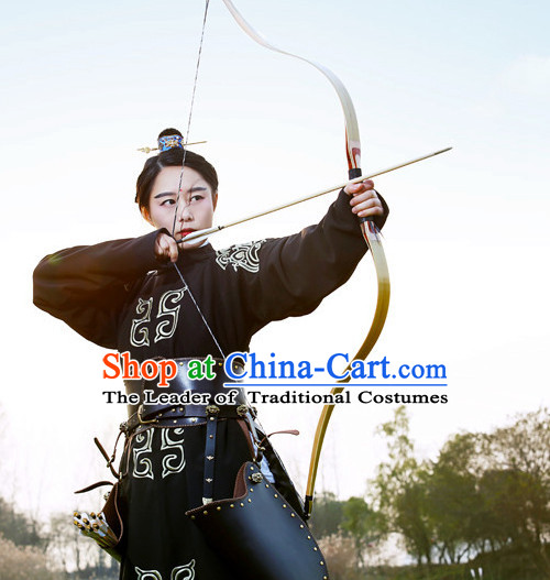 Traditional Chinese Ancient Tang Dynasty Archer Knight Scholar Garment Suits Dresses Complete Set for Women and Men