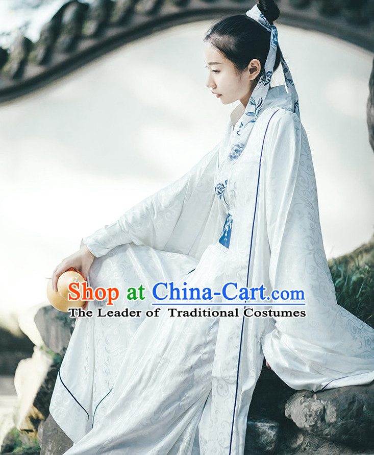 Traditional Chinese Ancient Han Dynasty Clothing Complete Set for Women and Men