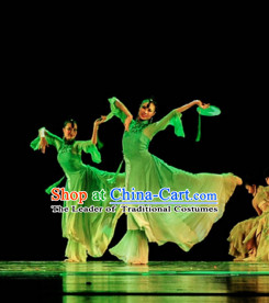Green Chinese Classical Dance Costume Folk Dancing Costumes Traditional Chinese Dance Costumes Asian Dance Costumes