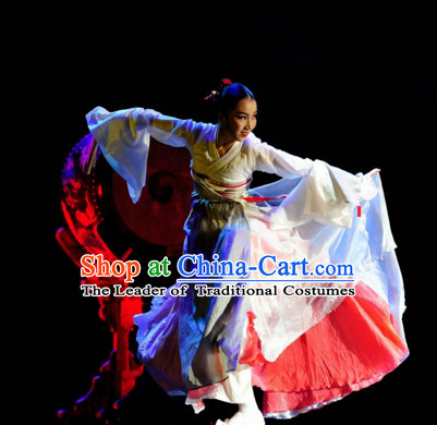 Chinese Ethnic Korean Dance Costume Folk Dancing Costumes Traditional Chinese Dance Costumes Asian Dance Costumes Complete Set for Women