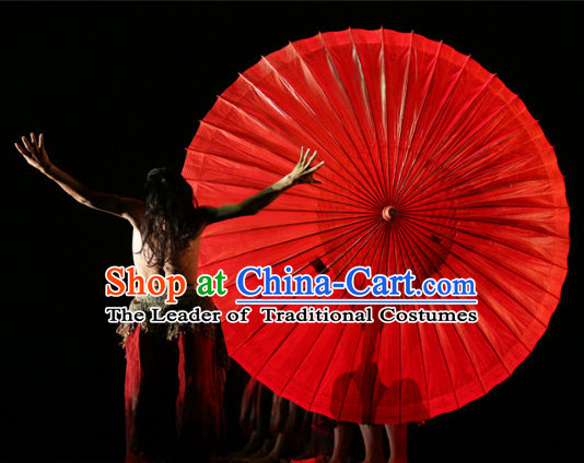Super Big Professional Stage Performance Red Umbrella