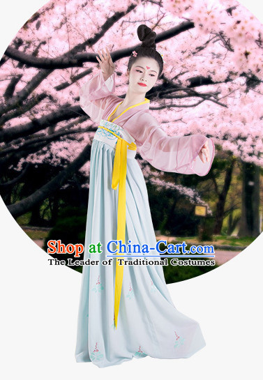 Hanfu Clothing Custom Traditional Tang Dynasty Chinese Hanfu Dreses Han Clothing Hanzhuang Historical Dress and Accessories Complete Set