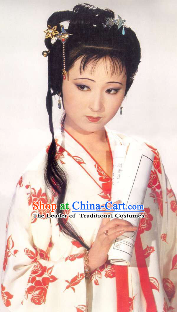 Hanfu Clothing Custom Traditional Chinese Lin Daiyu Hanfu Dreses Han Clothing Hanzhuang Historical Dress and Accessories Complete Set