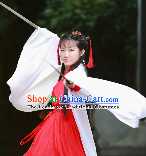 Han Dynasty Women Han Fu/Hanfu Gongfu Clothing Hanzhuang Historical Dress Historical Clothing and Accessories Complete Set for Women