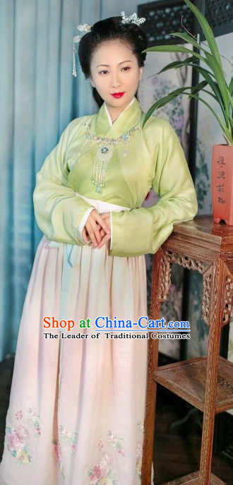Han Dynasty Women Han Fu/Hanfu Clothing Hanzhuang Historical Dress Historical Clothing and Accessories Complete Set for Women