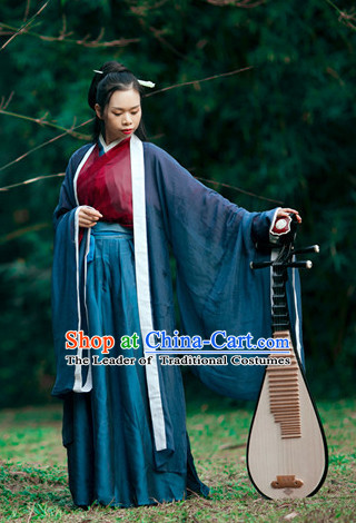 Women Han Fu/Hanfu Clothing Hanzhuang Historical Dress Historical Clothing and Accessories Complete Set