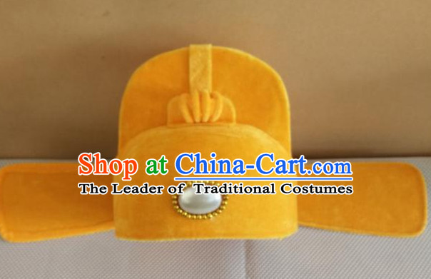 Traditional Chinese Yellow Official Hat