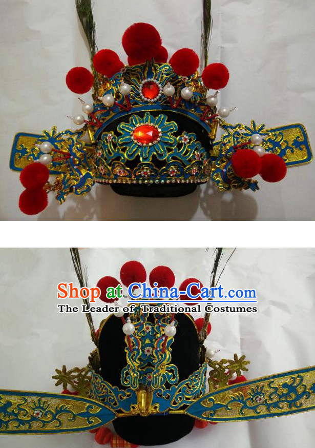 Traditional Chinese Opera Bridegroom Bridal Hat for Men