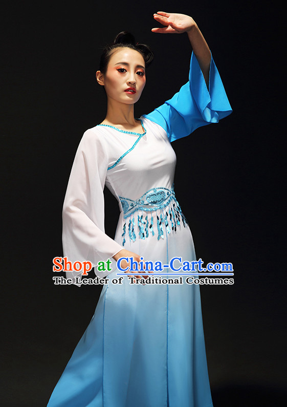 Chinese Classical Gradient Dance Skirt for Women and Girls