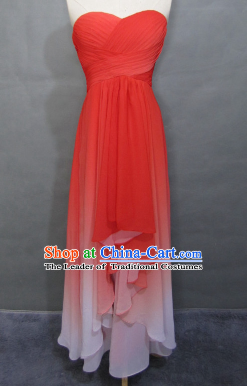 Evening Dress Gradient Dance Skirt for Women and Girls