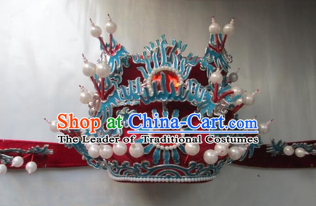 Chinese Opera Peking Opera Famous Operas Beijing Opera Jingju Hat Headwear for Men Boys