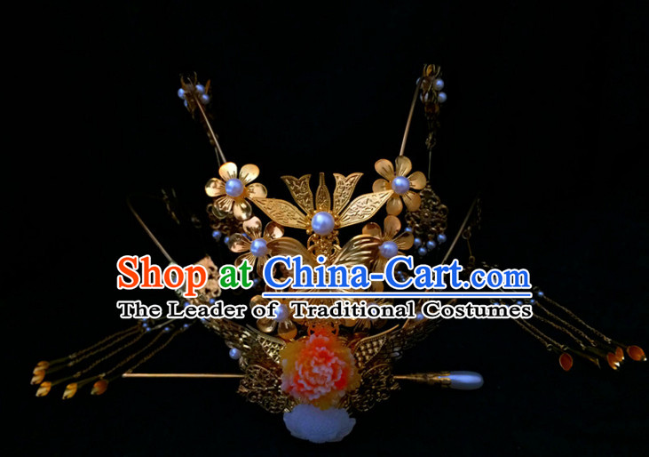 Chinese Ancient Style Empress Headpieces Hair Jewelry for Women