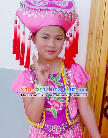 Chinese Ethnic Handmade Zhuang Hat for Women
