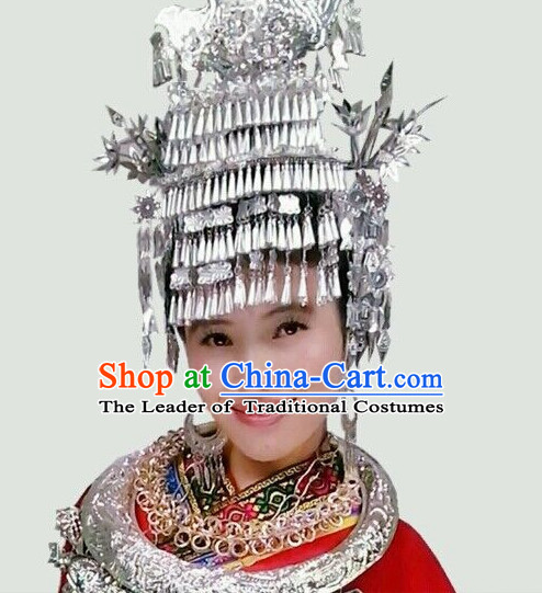 Chinese Ethnic Handmade Miao Hat for Women