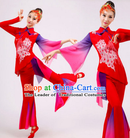 Chinese Folk Dance Dress Clothing Dresses Costume Ethnic Dancing Cultural Dances Costumes for Women