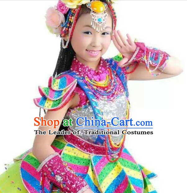 8810c80a2 Chinese Folk Dance Dress Clothing Dresses Costume Ethnic Dancing Cultural Dances  Costumes for Women Girls