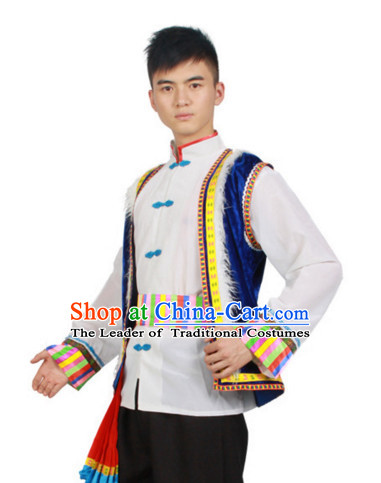 Chinese Folk Dance Dress Clothing Dresses Costume Ethnic Dancing Cultural Dances Costumes for Men