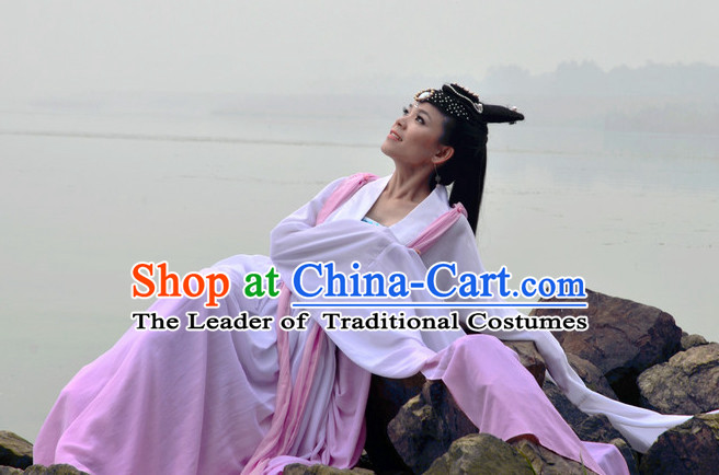 Ancient Chinese Imperial Dancer Costume Clothing Complete Set for Women