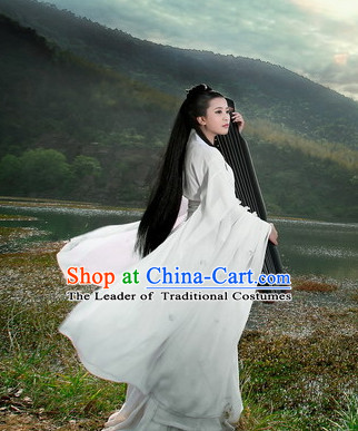 Ancient Chinese Classical Dancer Drama Scene Hanfu Clothing Complete Set for Women
