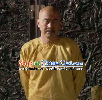Chinese Qing Dynasty Emperor Inside Clothing Pajamas Blouse and Pants for Men or Boys