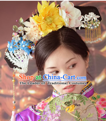 Magnificent Qing Dynasty Quene Hairstyle Manchu Hairstyle Chinese Oriental Hairstyles Short Hairstyles Gunalazisus