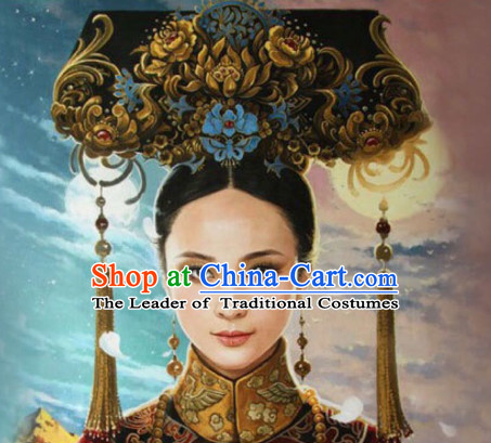 Peachy Qing Dynasty Quene Hairstyle Manchu Hairstyle Chinese Oriental Hairstyles Short Hairstyles Gunalazisus