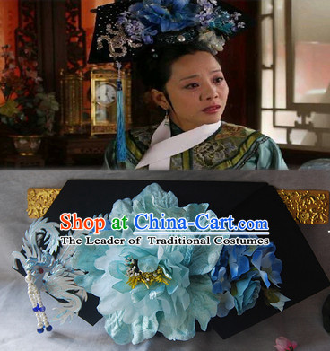 Magnificent Qing Dynasty Imperial Royal Quene Hairstyle Manchu Hairstyle Short Hairstyles Gunalazisus