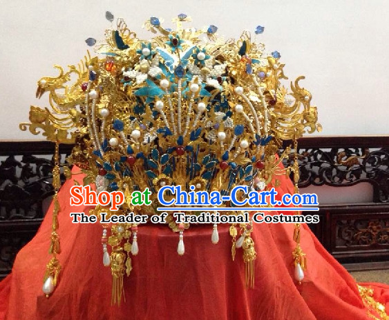 China Ancient Dynasty Imperial Royal Quene Crown Empress Hairpins Hair Accessories Hairstyle Wigs Chinese Oriental Hairstyles Headpieces Hat