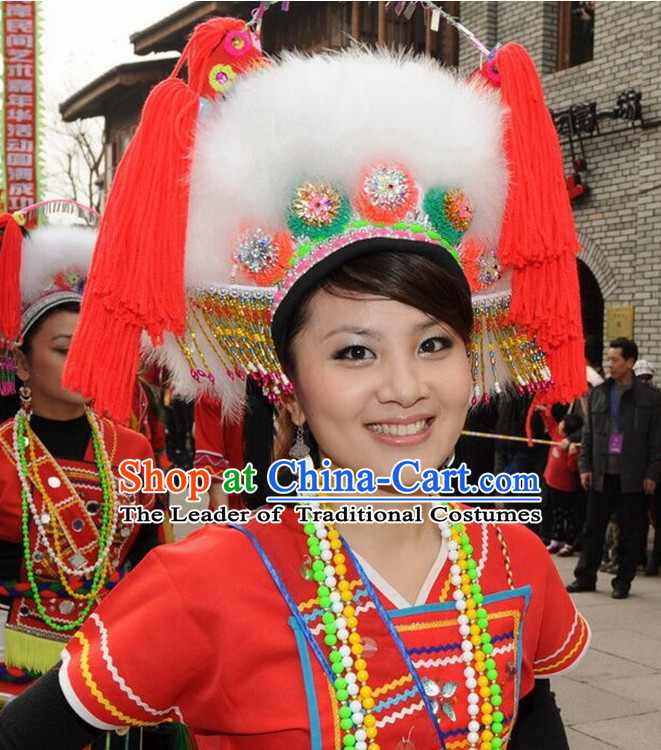 Chinese Gaoshan Folk Ethnic Hat for Women