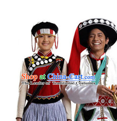Chinese Traditional Minority Hmong Folk Ethnic Hat for Men and Women