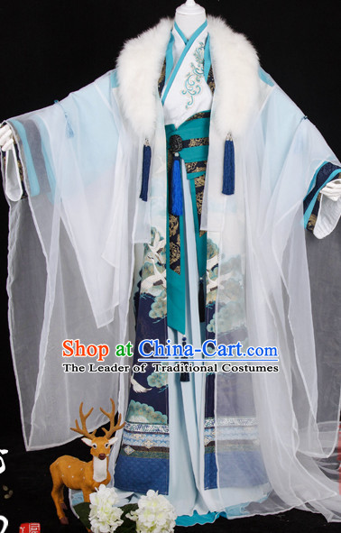 Traditional Chinese Imperial Court Prince Emperor Dress Asian Clothing National Hanfu Costume Han China Style Costumes Robe Attire Ancient Dynasty Dresses Complete Set for Men
