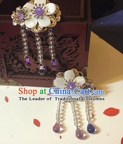 Chinese Traditional Lady Comb Headpieces Hair Jewelry Set