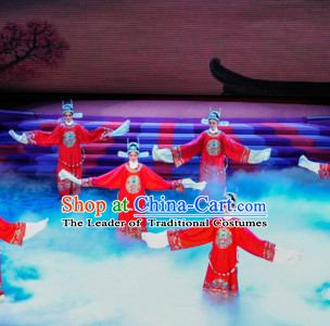 Chinese Classical Opera Guan Gong Dance Costume Folk Dancing Costumes Traditional Chinese Dance Costumes Asian Dancewear Complete Set for Men Boys