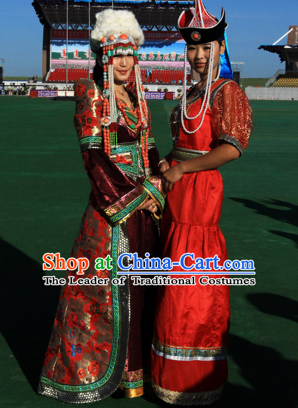 Ancient Mongolian Clothing Traditional Mongolian Clothing Folk Garment for Women