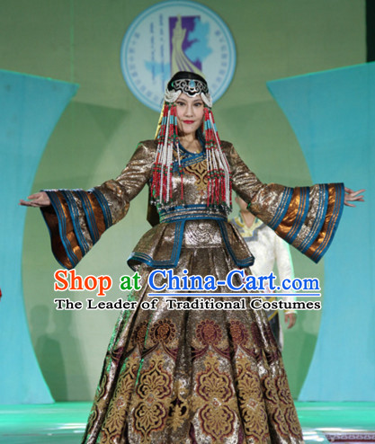 Traditional Mongolian Clothing Traditional Mongolian Clothing Folk Empress Costumes for Women