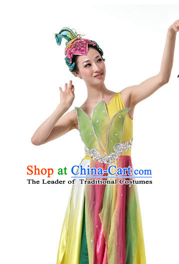 Traditional Chinese Classical Flower Dance Costumes for Girls
