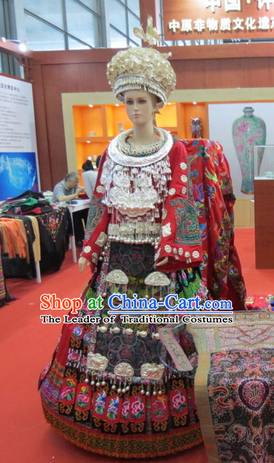 Chinese Traditional Ethnic Miao National Costumes Complete Set