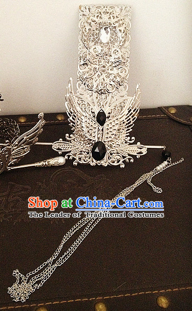 Handmade Chinese Prince Crown Hair Accessories Hair Ornaments Hair Pieces for Men