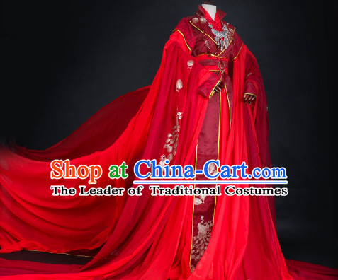 Ancient Chinese Imperial Bridal Clothing Traditional Chinese Clothes Wedding Dresses Tangzhuang Queen Han Fu Complete Set for Women