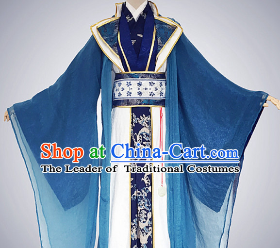 Traditional Chinese Ancient Prince Clothing Complete Set for Men