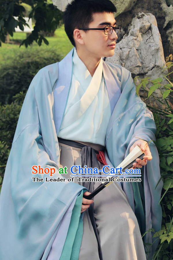 Ancient Chinese Clothing Chinese National Costumes Ancient Chinese Costume Traditional Chinese Clothes Complete Set for Men