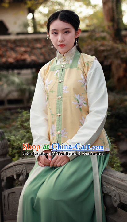 Ancient Chinese Ming Dynasty Clothing Chinese National Costumes Ancient Chinese Costume Traditional Chinese Clothes Complete Set for Women Girls
