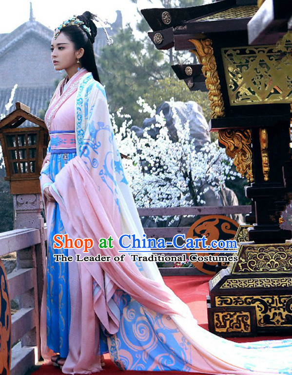 Top Chinese Ancient Beauty Xi Shi Costume in Women's Theater and Reenactment Costumes Ancient Chinese Clothes and Hair Jewelry Complete Set for Women Girls Children Adults