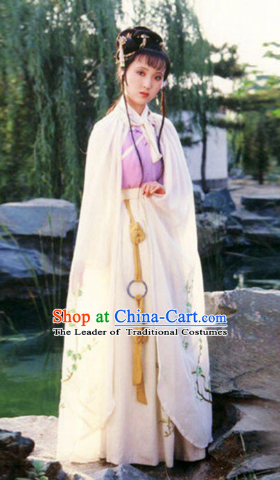 Top Chinese Ancient Lin Daiyu Costume in Women's Theater and Reenactment Costumes Ancient Chinese Clothes and Hair Jewelry Complete Set for Girls Children Adults