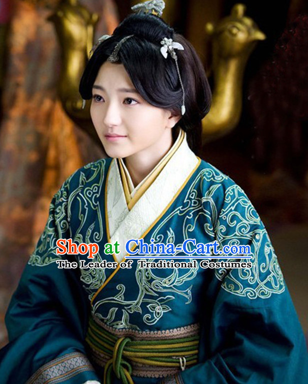 Top Chinese Traditional Princess Clothing Theater and Reenactment Costumes Red Chamber Chinese Clothes and Headpieces Complete Set for Women