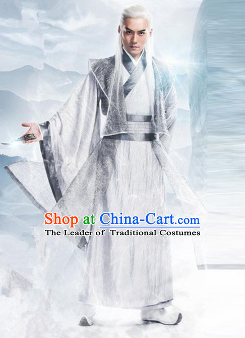 Ancient Chinese Guzhuang Men's Clothing & Apparel Chinese Traditional Dress Theater and Reenactment Costumes Complete Set for Men