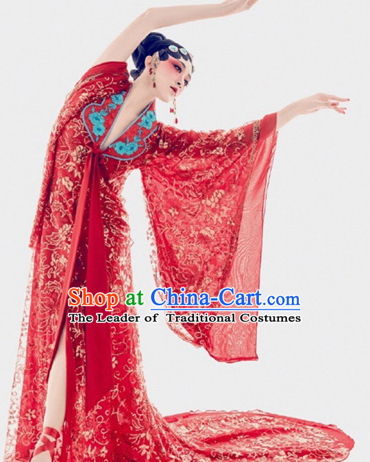 Chinese Opera Women's Clothing & Apparel Chinese Traditional Dress Theater and Reenactment Costumes and Headwear Complete Set