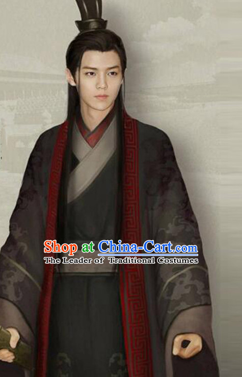 Chinese Ancient Prince Men's Clothing & Apparel Chinese Traditional Dress Theater and Reenactment Costumes and Headwear Complete Set