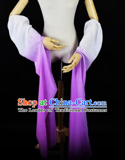 Chinese Traditional Stage Performance Color Transition Water Sleeve Long Sleeves