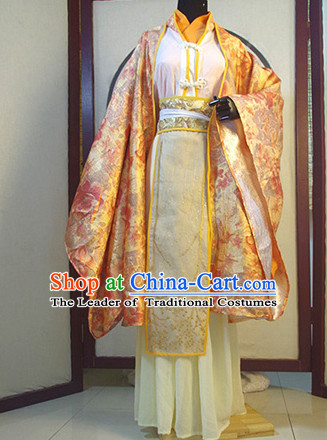 Chinese Ancient Han Fu Royal Clothing Robes Tunics Accessories Traditional China Clothes Adults Kids